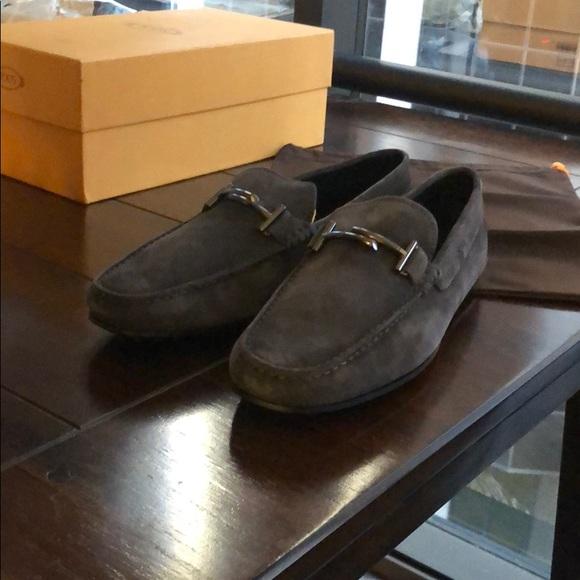 67c5dd139fd Tod's City Gommino Driving Shoes Suede, Dark Grey. NWT. Tod's.  M_5c4d248ca5d7c6b9cc3680b1. M_5c4d24946a0bb7e467ff95b9.  M_5c4d24c9baebf6bb1a75e86b